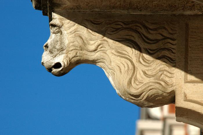 Palazzo Donà Balbi- Particolare del prospetto principale